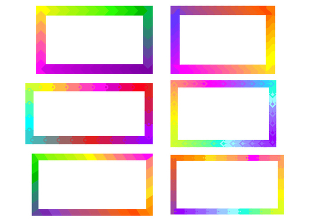 Rainbow Funky Frames Free Vector Free Vector Download 421031 | CannyPic