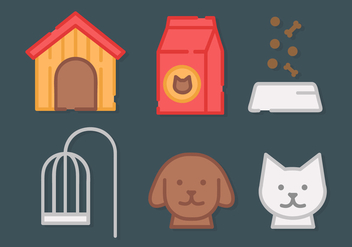 Free Pet Elements Vector - Free vector #421051