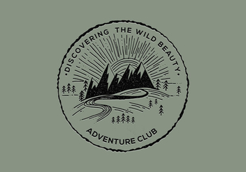 Adventure Club Badge - vector #421121 gratis