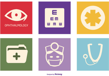 Optometry Vector Icon Collection - Kostenloses vector #421291