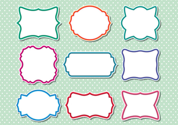 Collection of funky frame vectors - Free vector #421331
