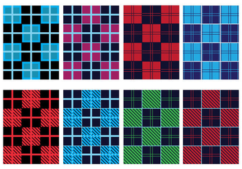 Flannel Pattern Vector Pack - vector gratuit #421381