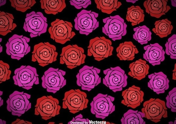 Vector Seamless Pattern With Roses - Kostenloses vector #421431