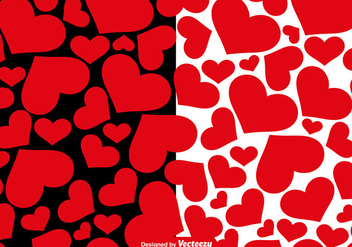 Vector Hearts Seamless Patterns - vector #421441 gratis