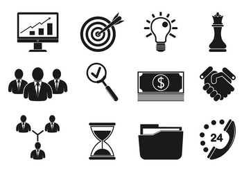 Set Of Business Icons - vector #421491 gratis
