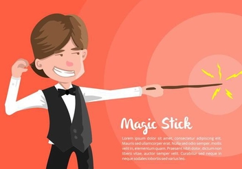 Magician Illustration - бесплатный vector #421511