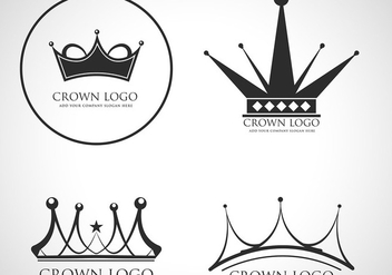 Crown logo vector - vector gratuit #421541