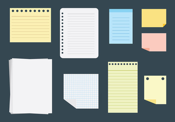Free Block Notes Icons Vector - Free vector #421661