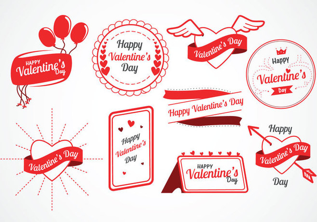 Valentine's Day Vector Labels - Free vector #421681