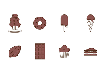 Free Set of Chocolate Icons - vector #421731 gratis