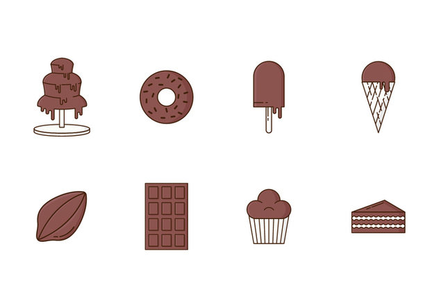 Free Set of Chocolate Icons - Free vector #421731