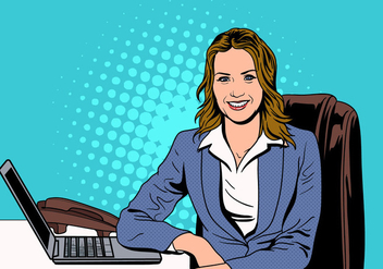 A Successful Female Business Person Vector - бесплатный vector #421741