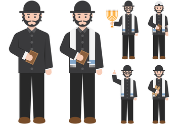 Rabbi Figure Character - Free vector #421781