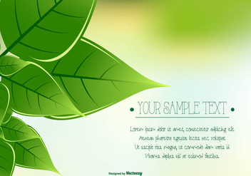 Green Leaf Background - Kostenloses vector #421851