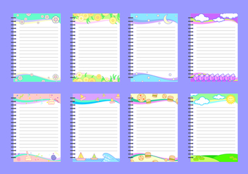 Cute Block Notes Free Vector - vector #421881 gratis