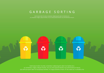 Landfill Garbage Colorful Sorting - Free vector #421951