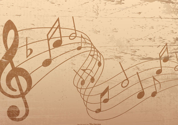 Old Grunge Musical Notes Background - vector gratuit #421971