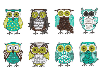 Scandinavian Buho or Owls Vector Collection - бесплатный vector #422061