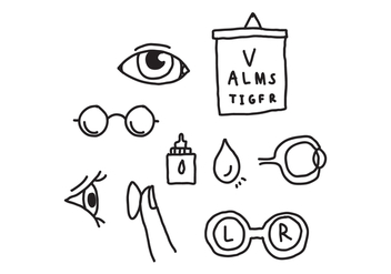 Eye Doctor Doodles - vector gratuit #422081