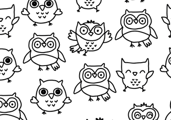 Hand Drawn Buho Pattern - Free vector #422091