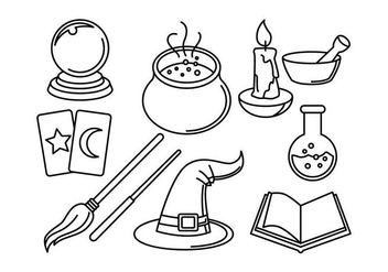 Free Wizards Linear Icon Vectors - vector #422101 gratis