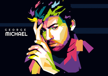 George Michael WPAP Vector - бесплатный vector #422121