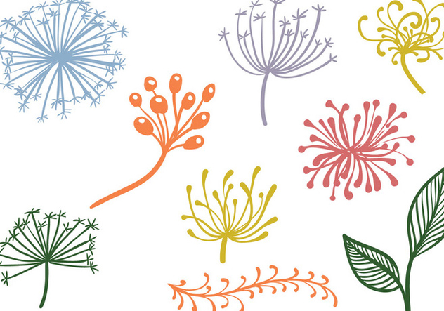 Free Decorative Plants Vectors - vector gratuit #422131
