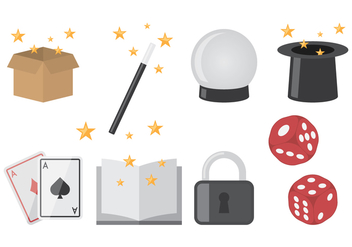Magician Flat Icons - Free vector #422171