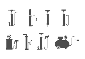 Free Air Pump Vector Set - Kostenloses vector #422221