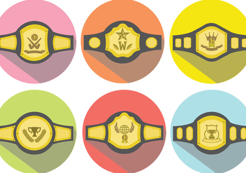 Championship Belt Vector Pack - Free vector #422231