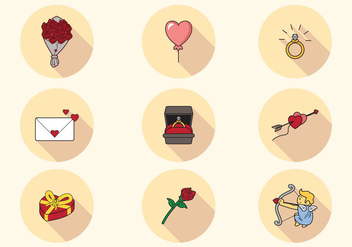 Lovely San Valentin Icons - vector gratuit #422251