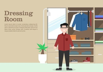 Mens Dressing Room Background - vector gratuit #422261