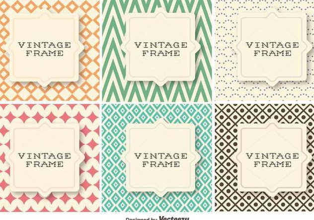 Vector Set Of Vintage Retro Patterns With Geometrical Shapes - Free vector #422291