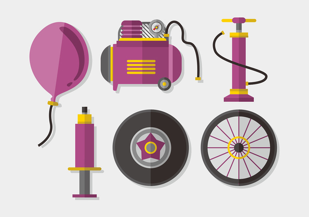 Air Pump Elements Vector Pack - Free vector #422541