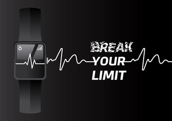 Heart Rate Fit Tracker Free Vector - Kostenloses vector #422651