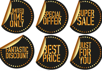Vector Sale Stickers - Free vector #422761