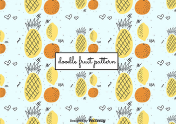Doodle Fruit Pattern - Free vector #422821