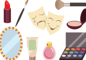 Theater Dressing Room Vectors - vector gratuit #422831