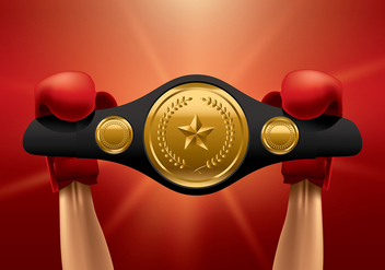 Championship Belt Winner Vector - бесплатный vector #422851