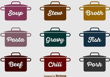 Kitchen Vector Icons - vector gratuit #422861