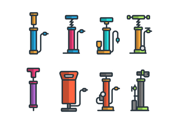 Air Pump Vector Icon Sets - vector #422871 gratis