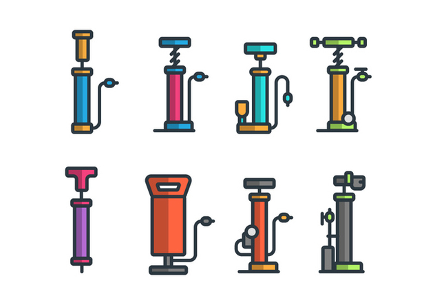 Air Pump Vector Icon Sets - Free vector #422871