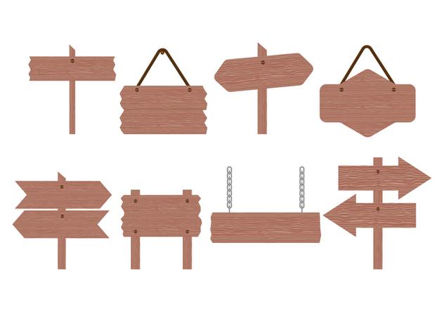 Free Wood Sign Board Vector Collection - Kostenloses vector #422911