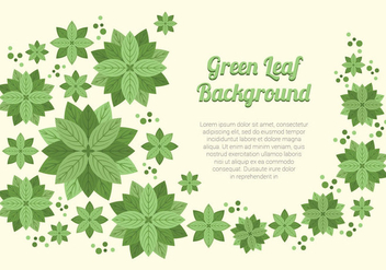 Elegant Green Leaf Background - Free vector #422921