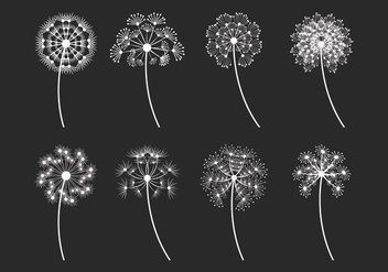 Blowball Vector Icons Set - Kostenloses vector #422971