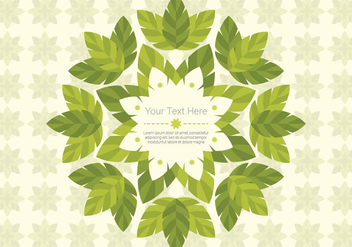 Green Leaf Daun Background Vector - Kostenloses vector #422991