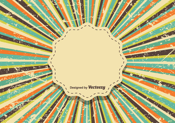 Vintage Colorful Background - Vector - vector #423001 gratis