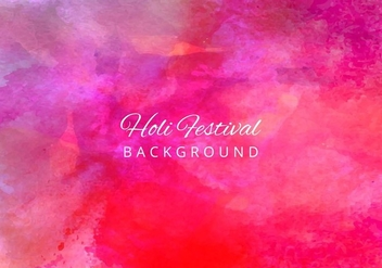 Free Vector Bright Colorful Holi Festival Background - бесплатный vector #423061