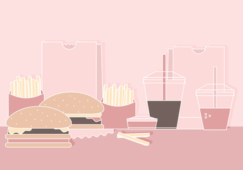 Vector Illustration of Fast Food Menu - Kostenloses vector #423101