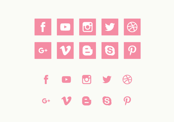Vector Set of Social Media Icons - vector gratuit #423111